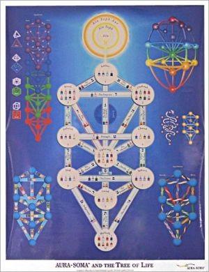 Tree Of Life Poster Laminated Aura Soma Colour System